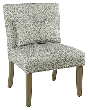 Cheetah Print Accent Chair with pillow, , large