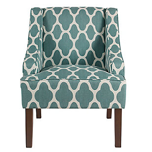 Classic Geometric Swoop Arm Chair, , rollover