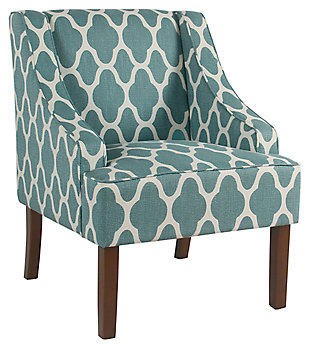 Classic Geometric Swoop Arm Chair, , large