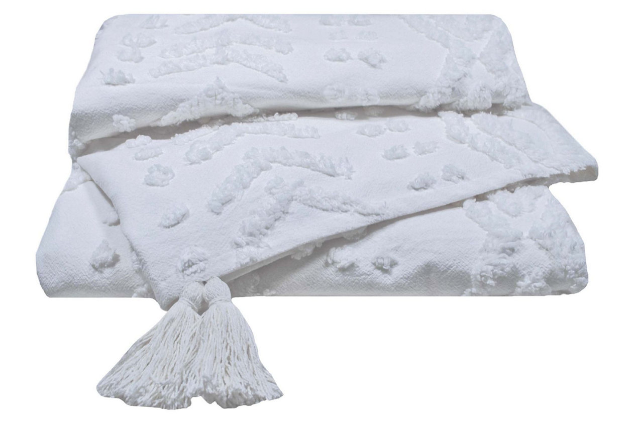 Stupendous 1 Piece Brooklyn Loom Jameson Tufted Chenille Throw Ashley Inzonedesignstudio Interior Chair Design Inzonedesignstudiocom
