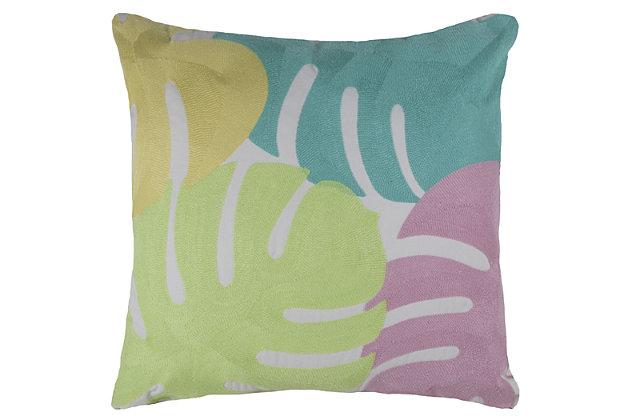 Floral Cotton Decorative Pillow, , large