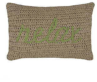 1 Piece Oceanfront Resort Relax Decorative Pillow, , large