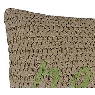 Floral Raffia Decorative Pillow, , large