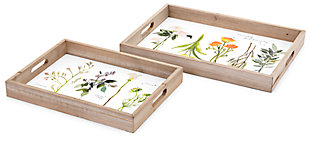 Flor Gardenia Decorative Trays (Set of 2), , large