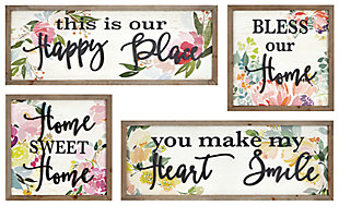 Distressed Hillary Wall Decors (Set of 4), , large