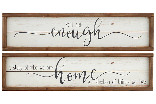 Distressed Crestin Wall Decor (Set of 2), , large