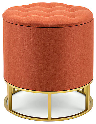 Bogota Rylee Orange Ottoman, , large
