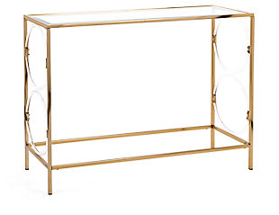 Acrylic Rouvin Glass Console Table, , rollover