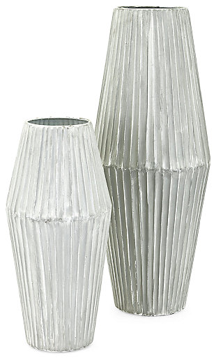 Iron Willow Metal Vases (Set of 2), , large