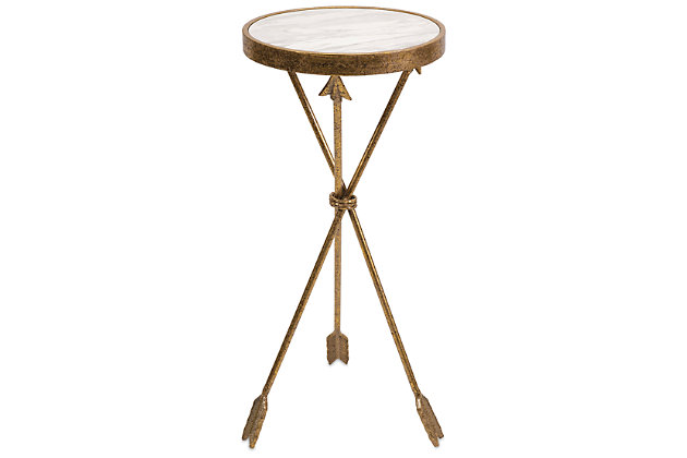 Arrow Marble Top Table, , large