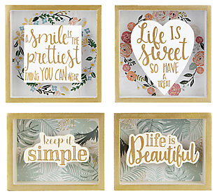 Multicolor Callista Wall Blocks (Set of 4), , rollover
