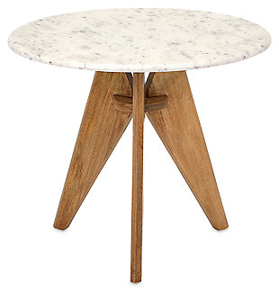 Kendel Tall Marble and Wood Table, , large