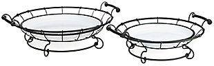 Helena Enamel Trays (Set of 2), , rollover