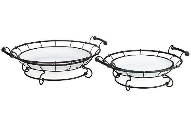 Helena Enamel Trays (Set of 2), , large
