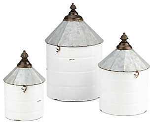 Iron Savannah Decorative Containers (Set of 3), , rollover