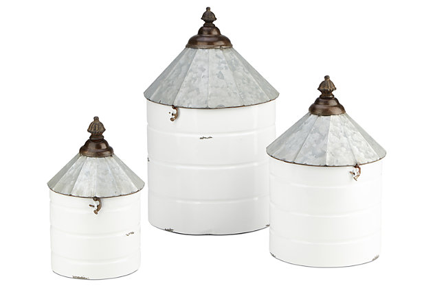 Iron Savannah Decorative Containers (Set of 3), , large