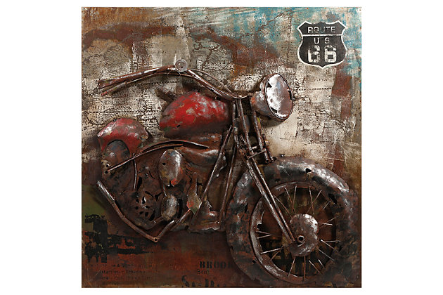 Macho Motorcycle Dimensional Metal Art, , large