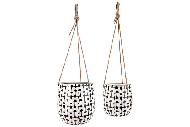 Zinco Hanging Planters (Set of 2), , large