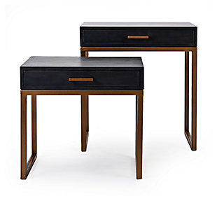 Kairi Cash Wood Side Tables (Set of 2), , rollover