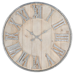 Camba Galvanized Wall Clock, , large