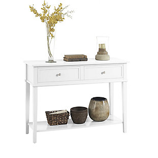 Nia Cottage Hill Console Table, White, large