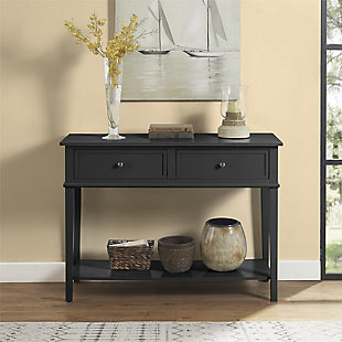 Nia Cottage Hill Console Table, Black, large