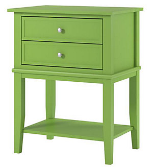 Nia Cottage Hill Accent Table with 2 Drawers, Green, large