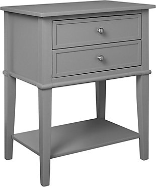 Nia Cottage Hill Accent Table with 2 Drawers, , large