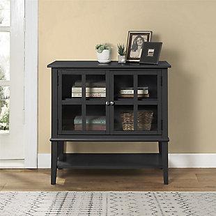 Isla Cottage Hill 2 Door Storage Cabinet, Black, rollover