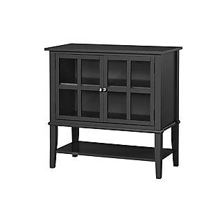 Isla Cottage Hill 2 Door Storage Cabinet, Black, large
