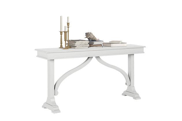 Carolina Wood Veneer Console Table, , large