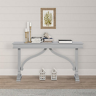 Carolina Wood Veneer Console Table, , rollover