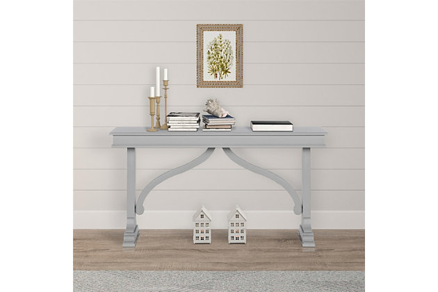 Carolina Wood Veneer Console Table, , large