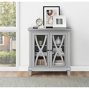 Meira Double Door Accent Cabinet, Gray, rollover
