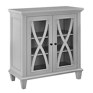 Meira Double Door Accent Cabinet, Gray, large