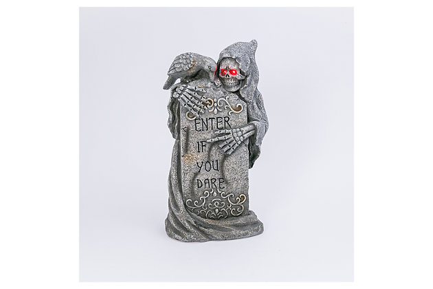 Decorative Battery-Operated Tombstone and Ghoul with Timer Feature, , large