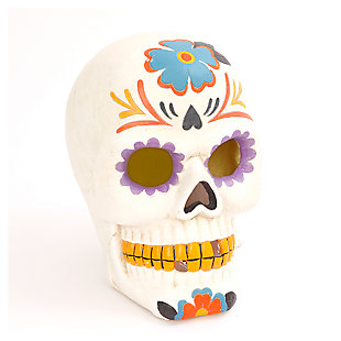 Decorative Battery-Operated Day of the Dead Skull Luminary Décor, , large