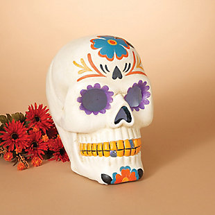 Decorative Battery-Operated Day of the Dead Skull Luminary Décor, , rollover
