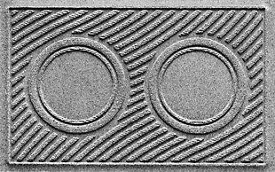 Dog Bowl Aqua Shield Wave Pet Feeding Mat, Medium Gray, large