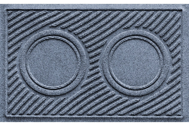 Dog Bowl Aqua Shield Wave Pet Feeding Mat, Bluestone, large