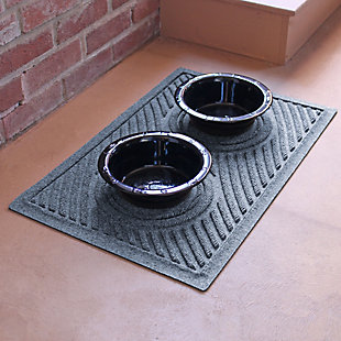 Dog Bowl Aqua Shield Wave Pet Feeding Mat, Bluestone, rollover