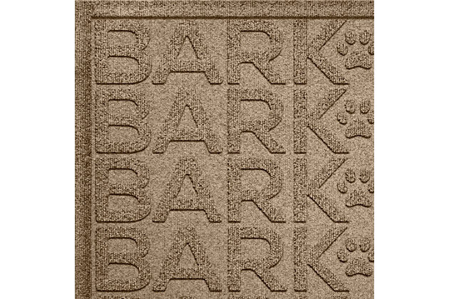 Dog Bowl Aqua Shield Bark Bark Pet Feeding Mat, Camel, large