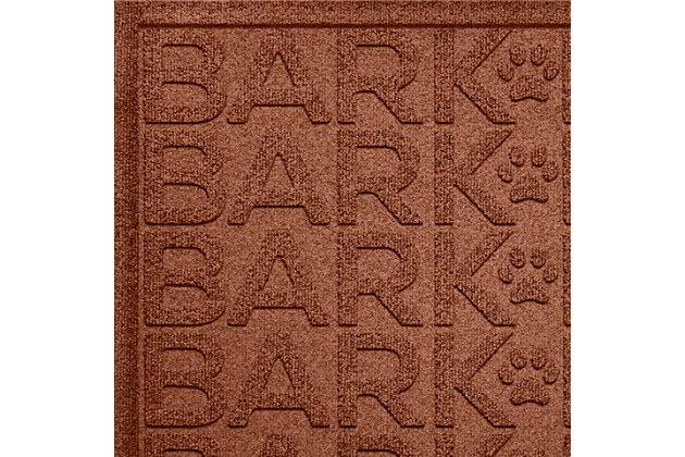 Dog Bowl Aqua Shield Bark Bark Pet Feeding Mat, Dark Brown, large