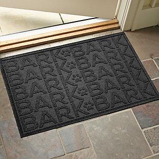 Dog Bowl Aqua Shield Bark Bark Pet Feeding Mat, Charcoal, large