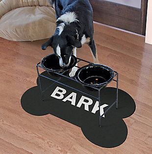 Surfaces Bark Bone Pet Feeding Mat, , large