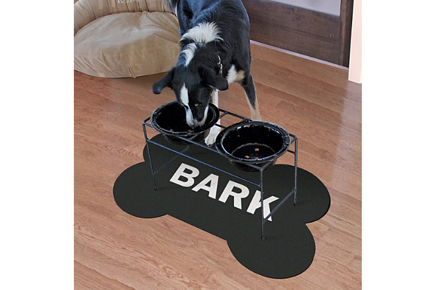 Surfaces Bark Bone Pet Feeding Mat, , large