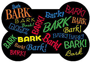 Surfaces Aqua Shield Bark Bark Bone Pet Feeding Mat, Multi, large