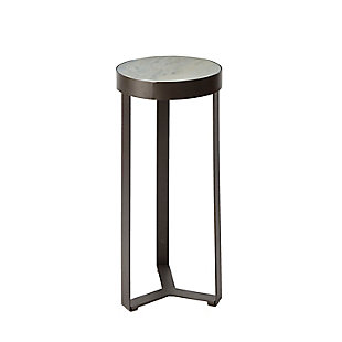 Batos Faux Marble Round Accent Table, , large
