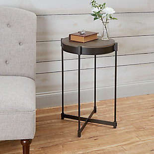 Brilla Cross Base Metal End Table, , large