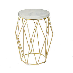 "Cadenita 26"" Mid-century Modern Wire Basket Accent Table, , large"